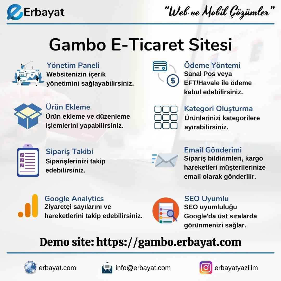 Gambo E-Ticaret Sitesi
